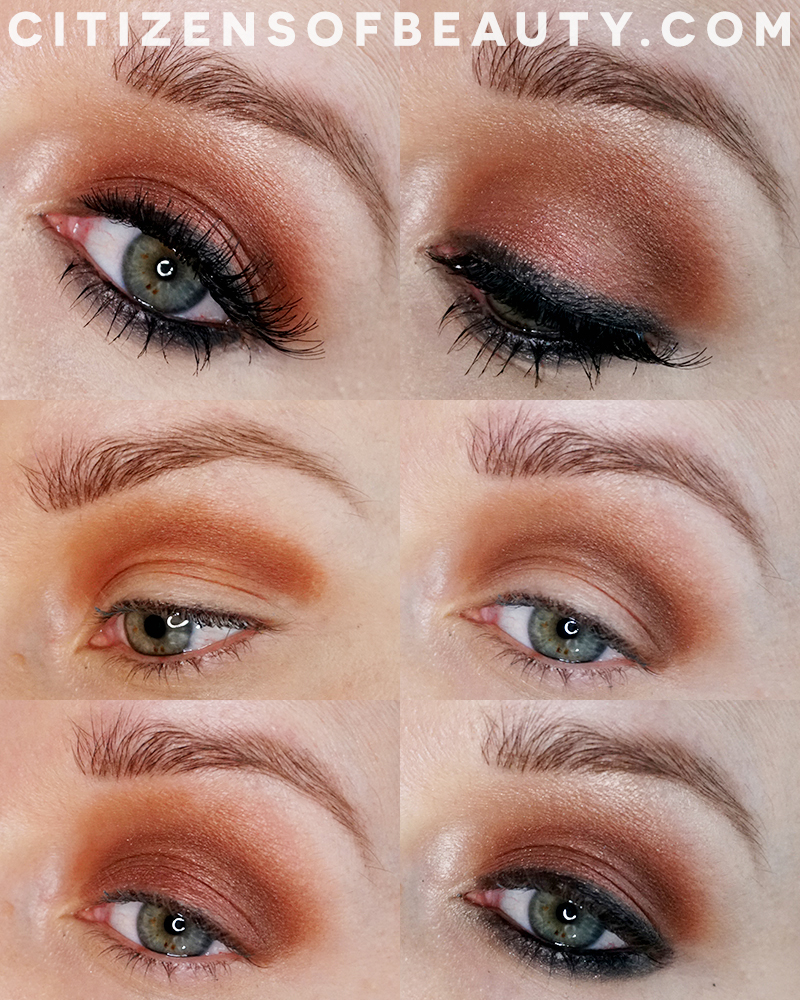 Gorgeous bronze and copper smoky eye makeup design for brides, girls night out, and more using the non-toxic Beautycounter Velvet Classic Eyeshadow Palette with beauty and lifestyle blogger, Kendra Stanton.