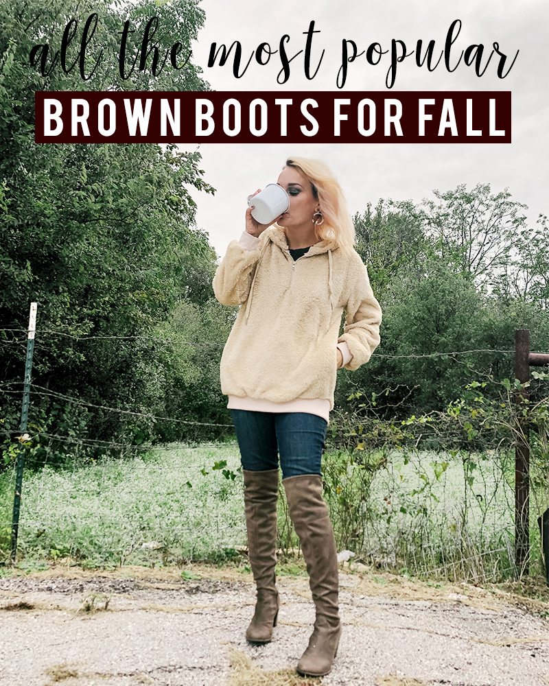 Get these popular brown fall boots that are perfect to pair with so many cozy fall outfits with style blogger, Kendra Stanton