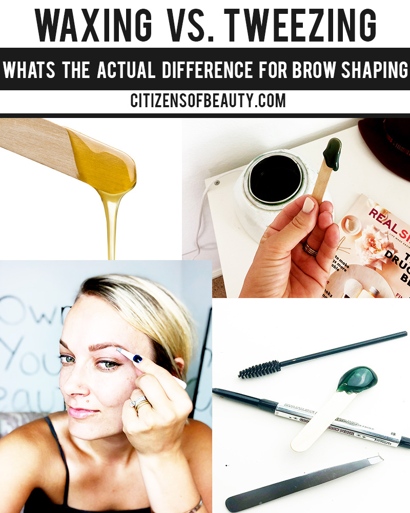 difference between waxing vs tweezing for brow shaping