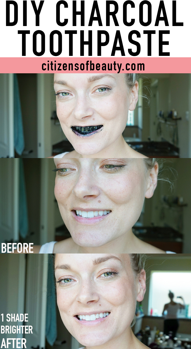 diy charcoal toothpaste recipe and instructions