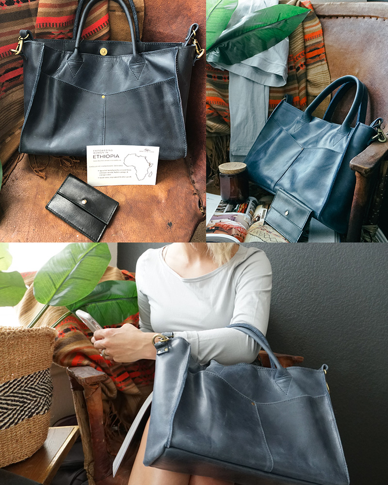 ethical and fairtrade handbags from raven and lily style blogger in Austin, TX