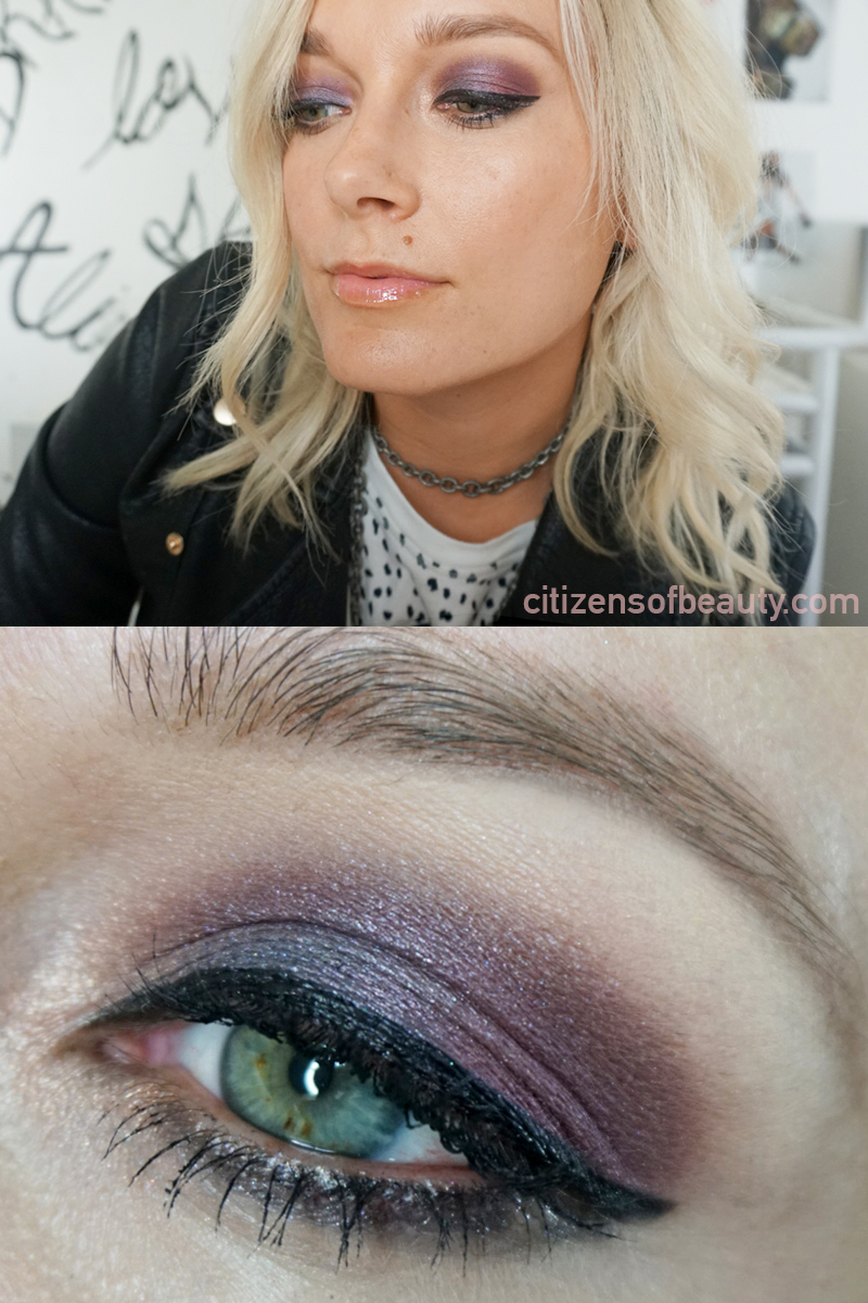 Fall jewel tone plumb smoky eyeshadow tutorial and look