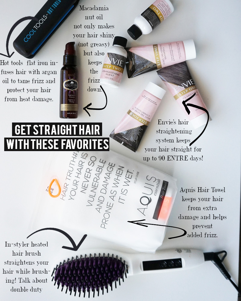 get straight hair with these favorite products