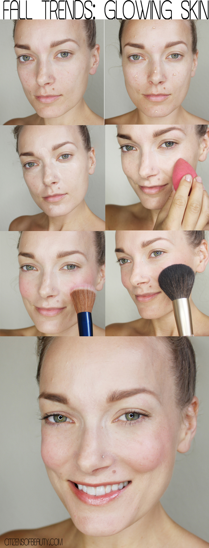 Check out this makeup tutorial for getting glowing and highlighted skin