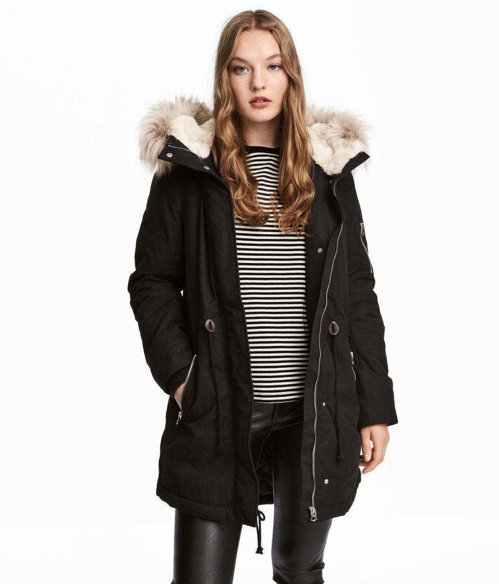 Black Parka Coat Under $100