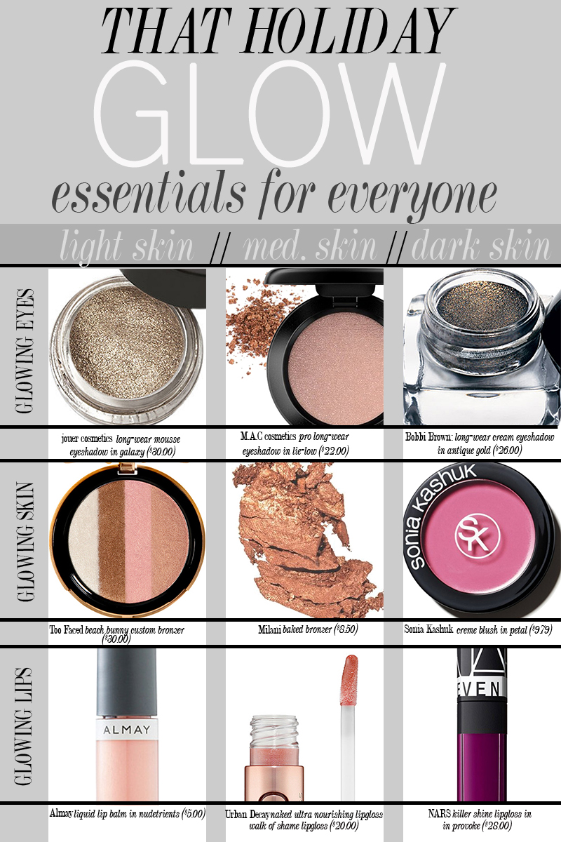 Check out these holiday makeup essentials for highlighted and radiant look