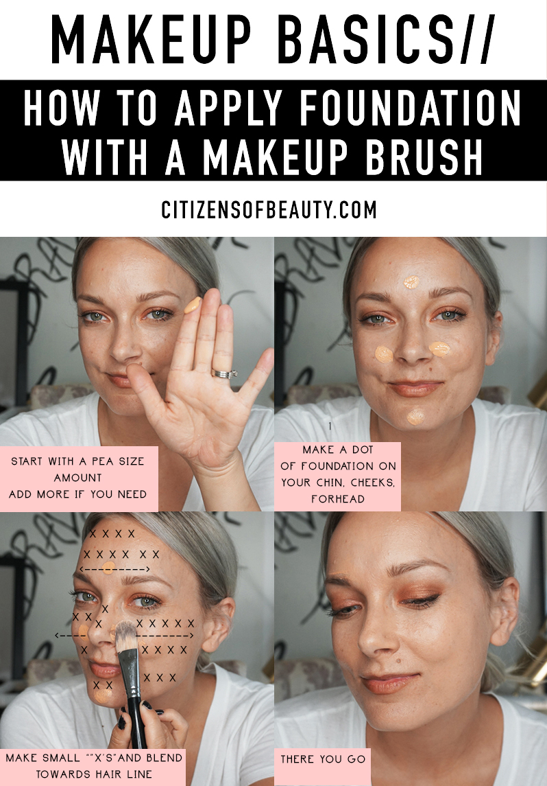 Check out these easy tips on applying foundation with a makeup brush!
