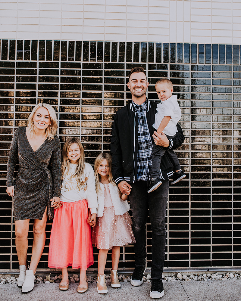 Holiday Family Photos Clothing inspo with beauty and lifestyle blogger, Kendra Stanton