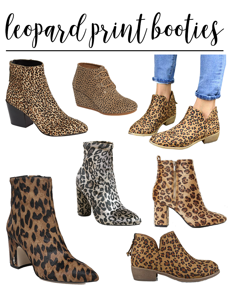 leopard print booties is of the most popular boot trends for fall. There are so many different styles and at all different price ranges at Amazon, Target, Nordstrom and more.