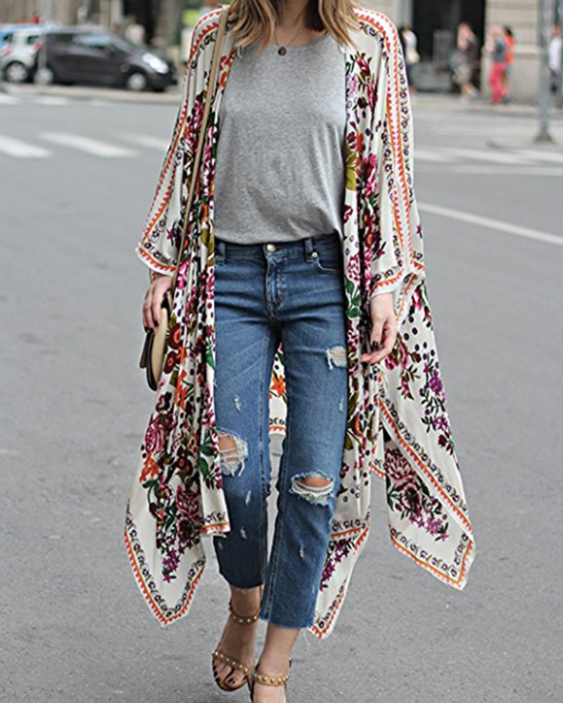 long floral kimono cardigan on amazon