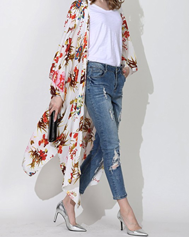 long floral sheer kimono on amazon