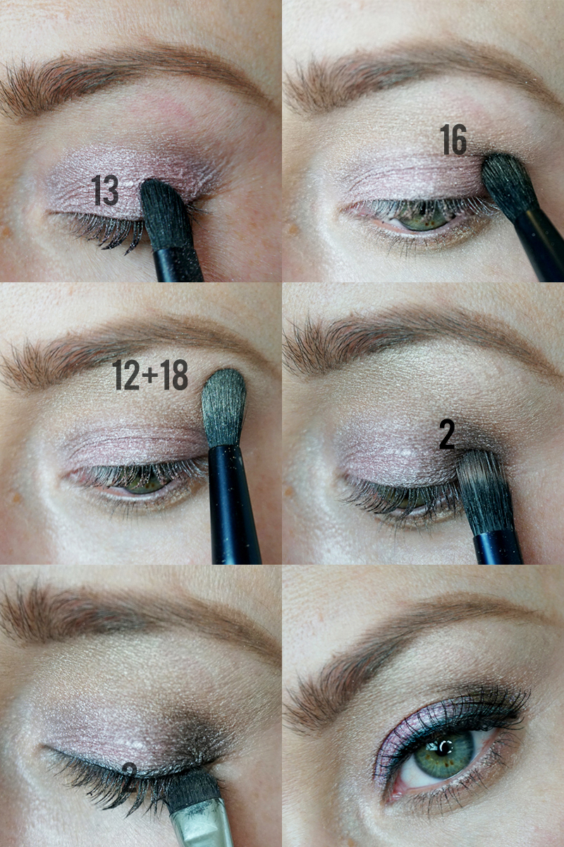 Beautycounter Ultimate Nudes Holiday Eyeshadow Palette look with instructions