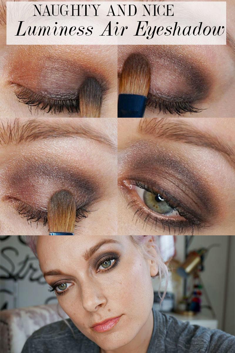 naughty eye makeup look using luminess air