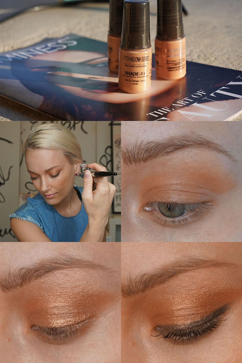 Learn how to airbrush your eyeshadow with Luminess air.