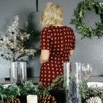 Mid-Century Modern Christmas Dining Room Decor