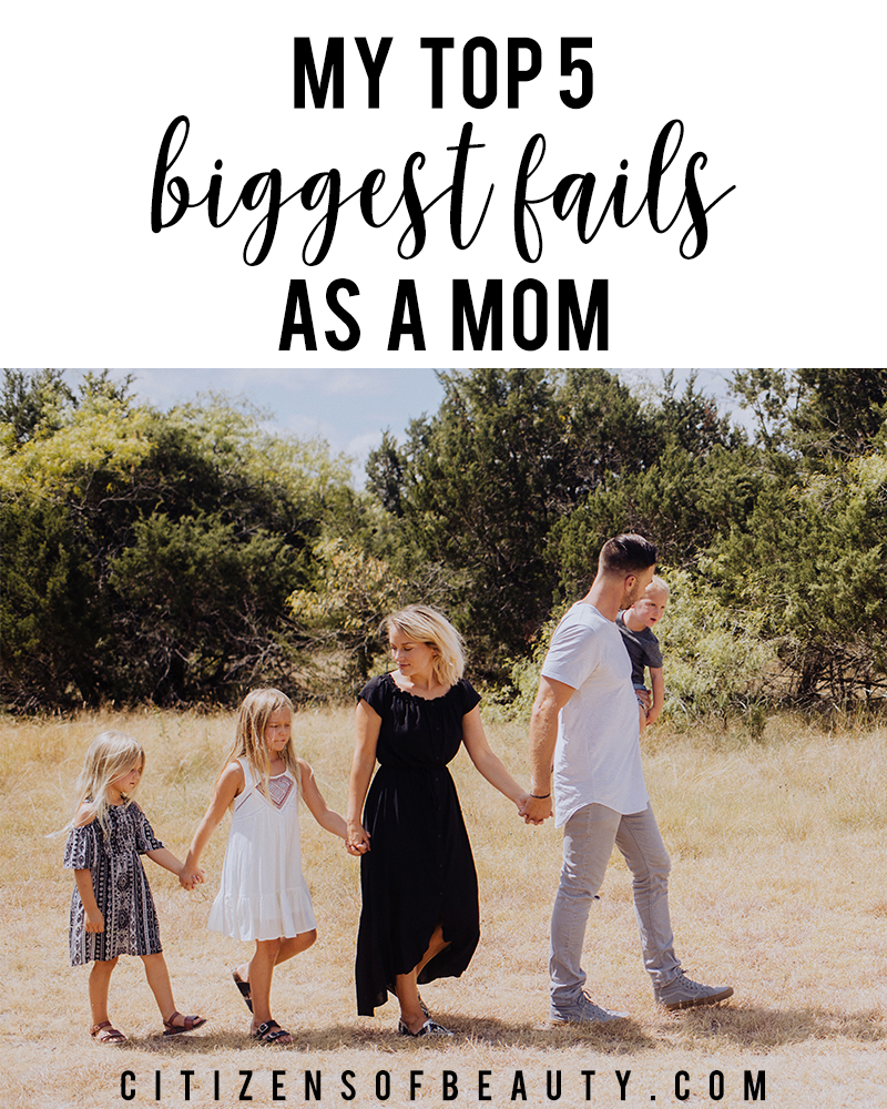 Austin, TX mom blogger Kendra Stanton shares her 5 biggest motherhood mistakes and fails as a mom.