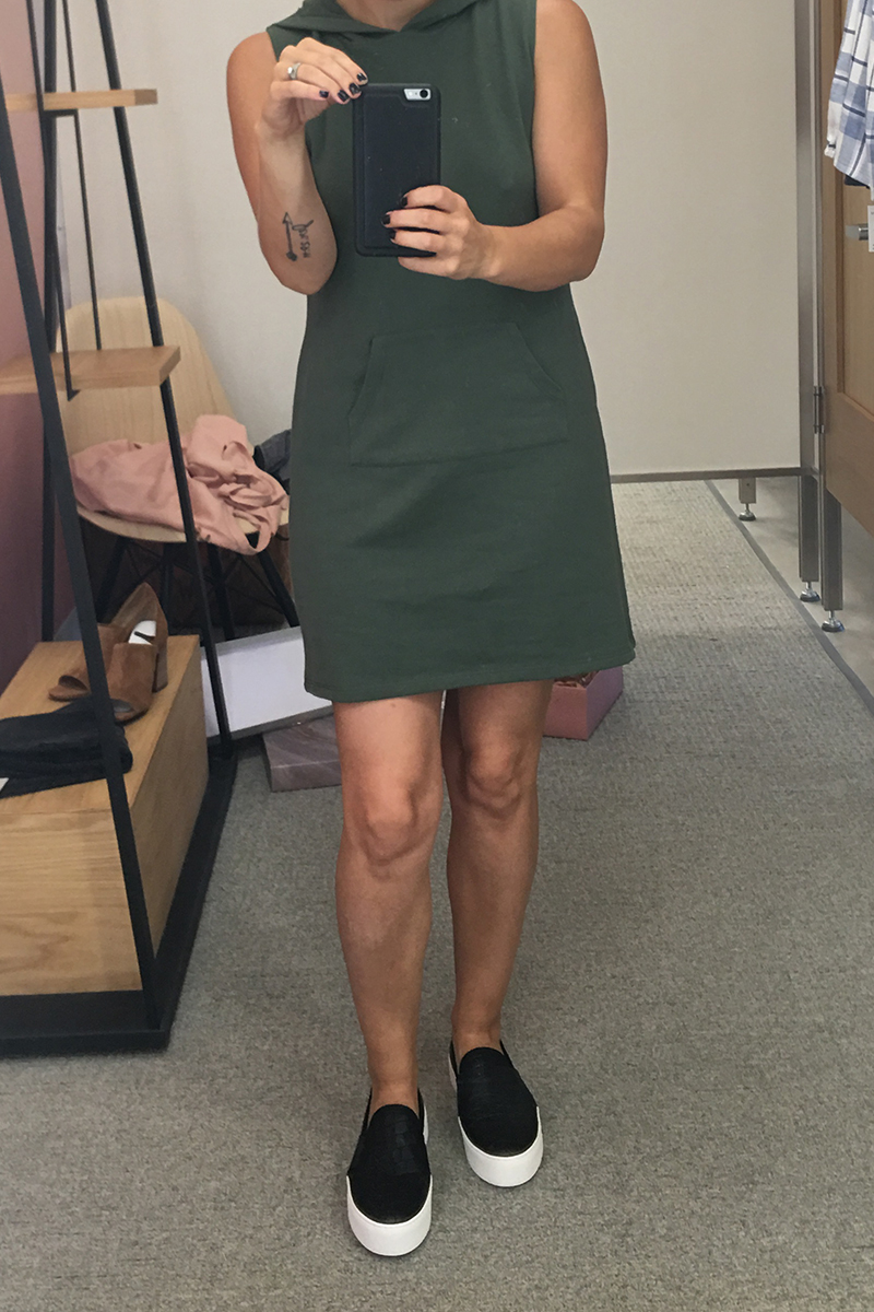 green t shirt sweater dress