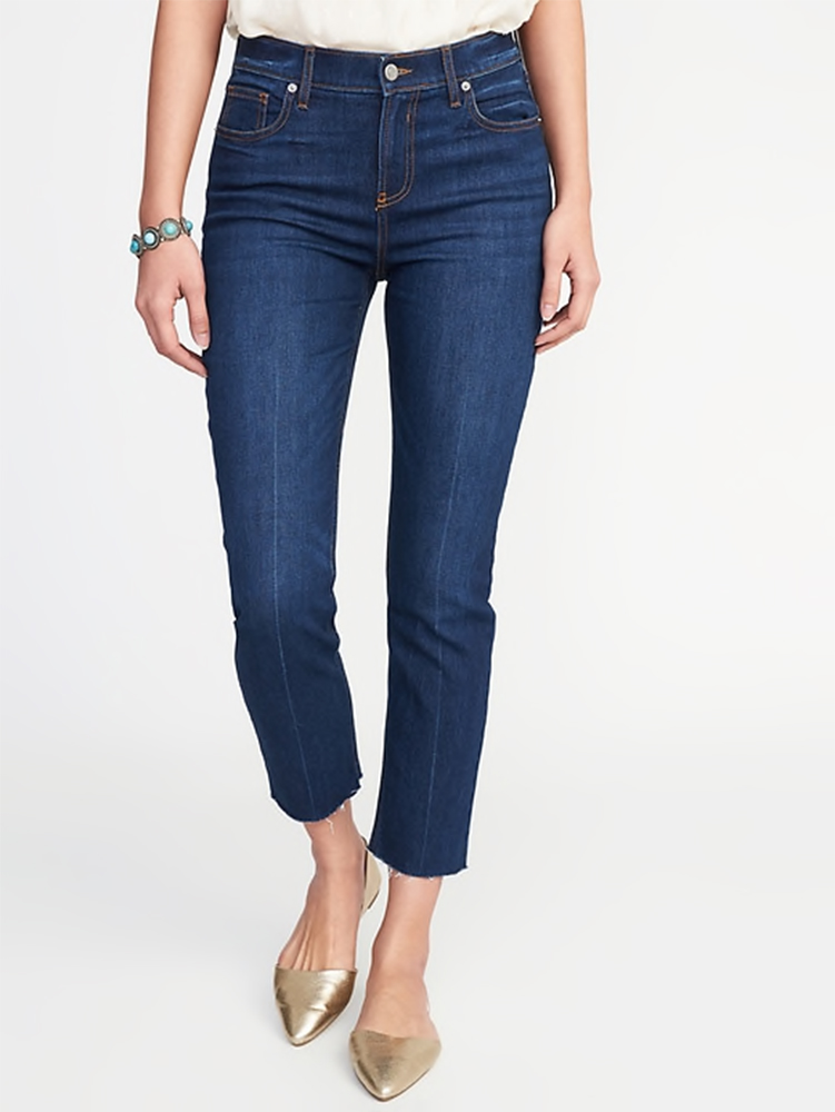 old navy petite jeans for short girls by style blogger kendra stanton in Austin, TX
