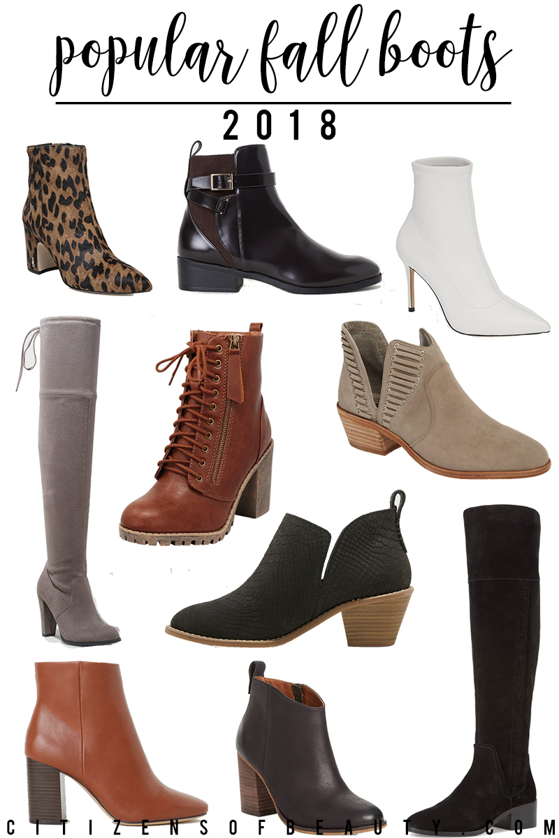 Check out these popular for boots for 2018 in every style like ankle boots, leopard, white, ankle, OTK and more. Find them in every price range at Target, Nordstrom, H&M and more.