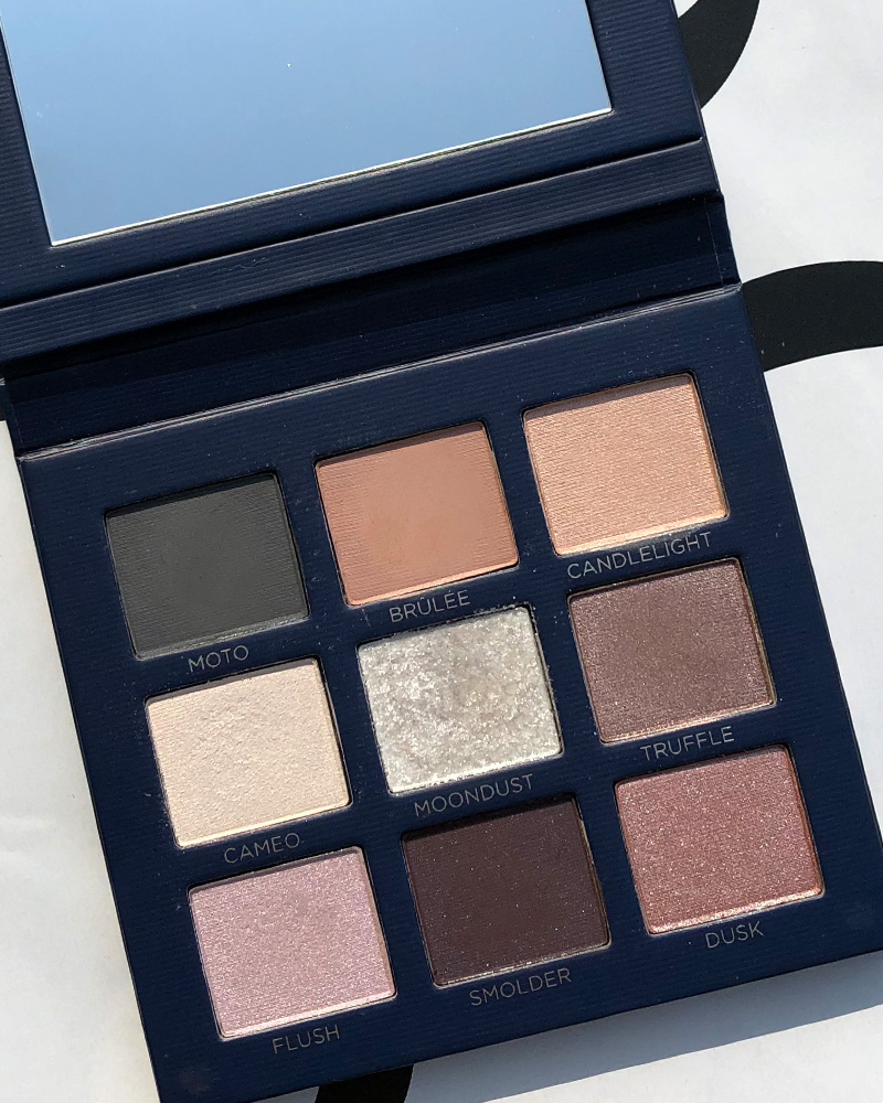 romantic eyeshadow palette from beautycounter review and look from Austin, TX makeup artist, Kendra Stanton