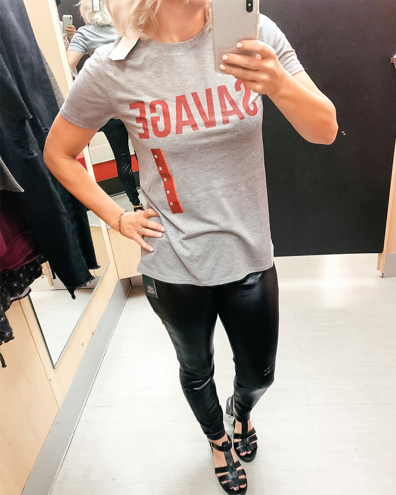 savage shirt at Target for 90's style try on haul