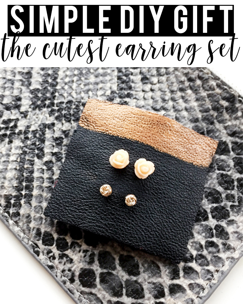 simple DIY Earring Set that looks expensive