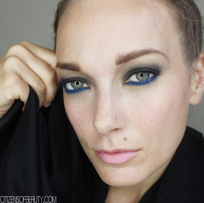 Austin, Texas Beauty Blogger Kendra Stanton bring syou this gorgeous dark smoky eye with a pop of blue for your fall makeup look.