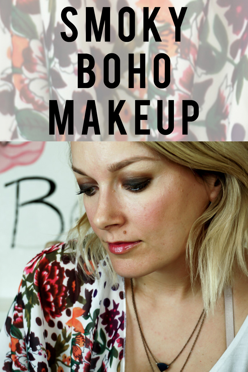 smoky boho makeup look for evenings out