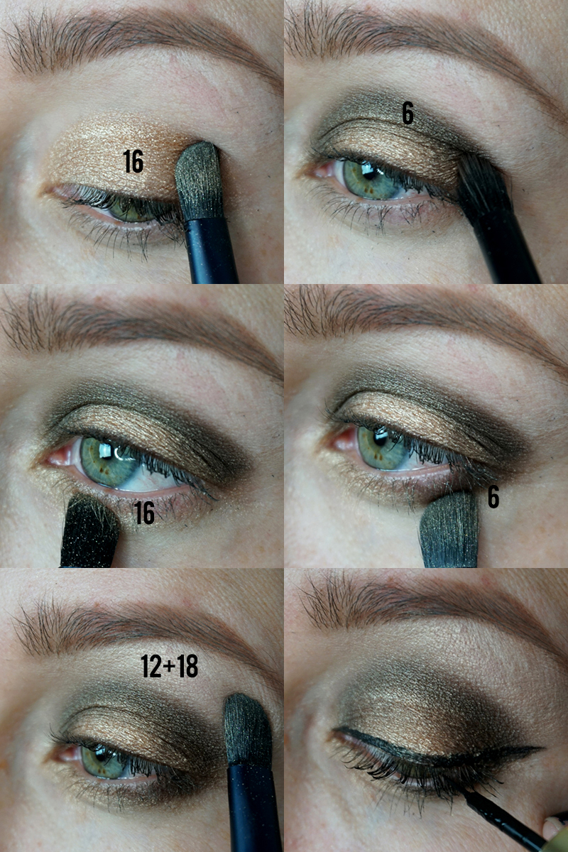 Beautycounter Holiday Ultimate Nudes Eyeshadow Palette Makeup look with instructions