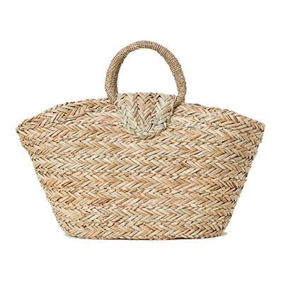 straw handbag with button snap for summer under $50