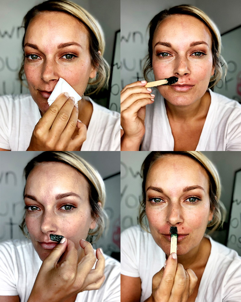 upper lip hair wax tutorial with step by step guide
