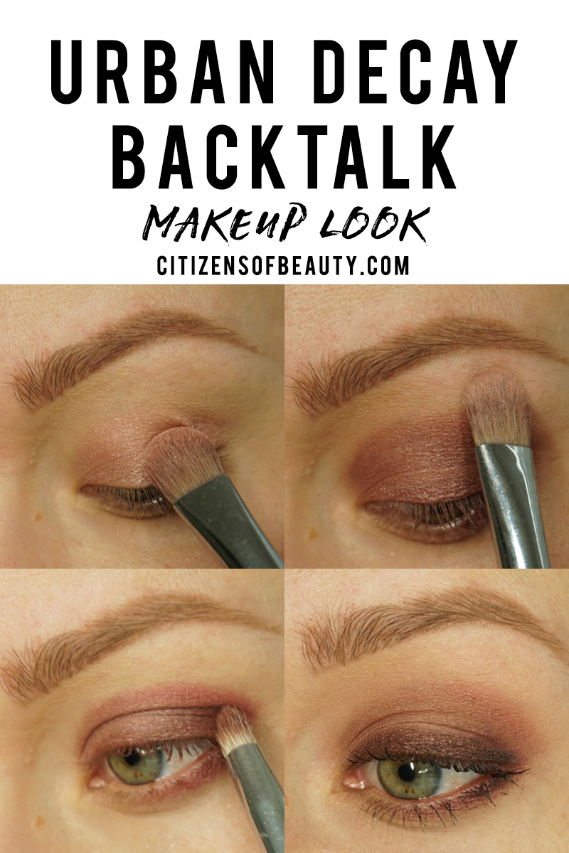 urban decay backtalk makeup look with eyeshadow steps