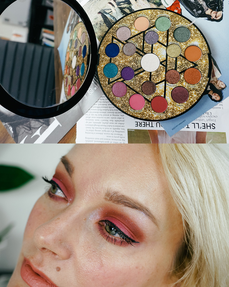 urban decay elements palette review and swatches and makeup look
