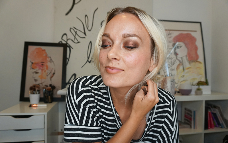 urban decay heat palette makeup look and tutorial