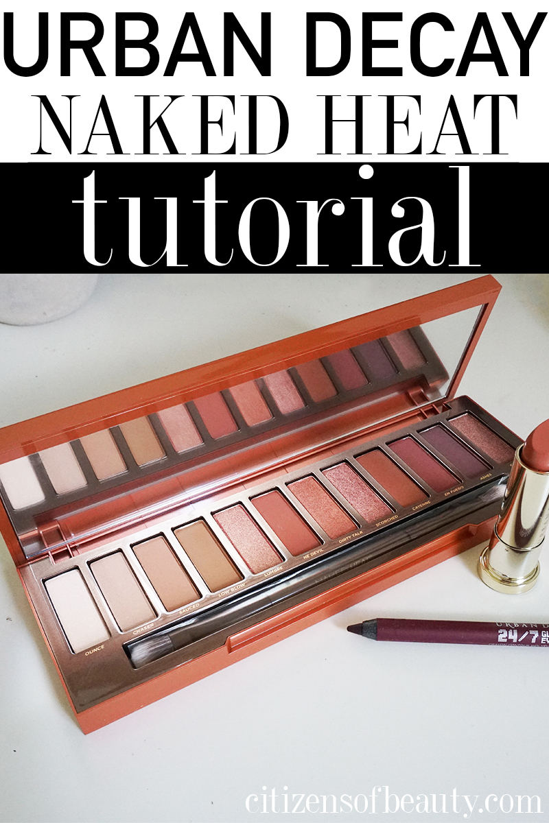 urban decay naked heat palette tutorial
