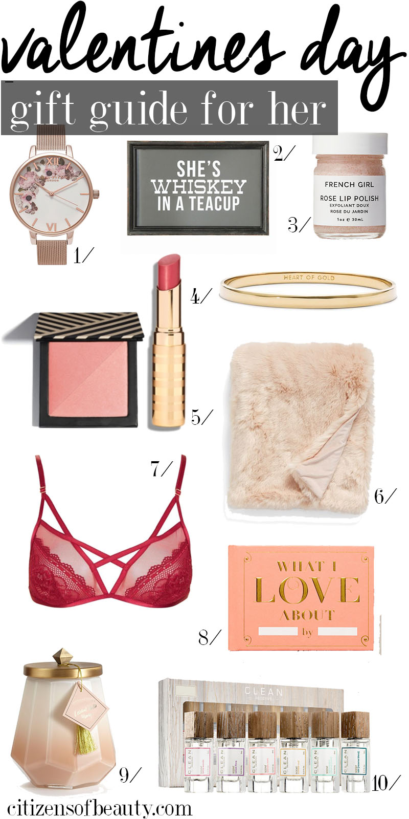 gorgeous valentines day gift guide and ideas for her