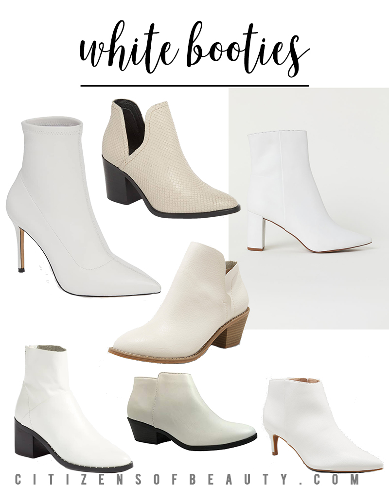 white boots and booties are one of the hottest trends for fall. Find them at every price point from Amazon, Target, H&M and Nordstrom.