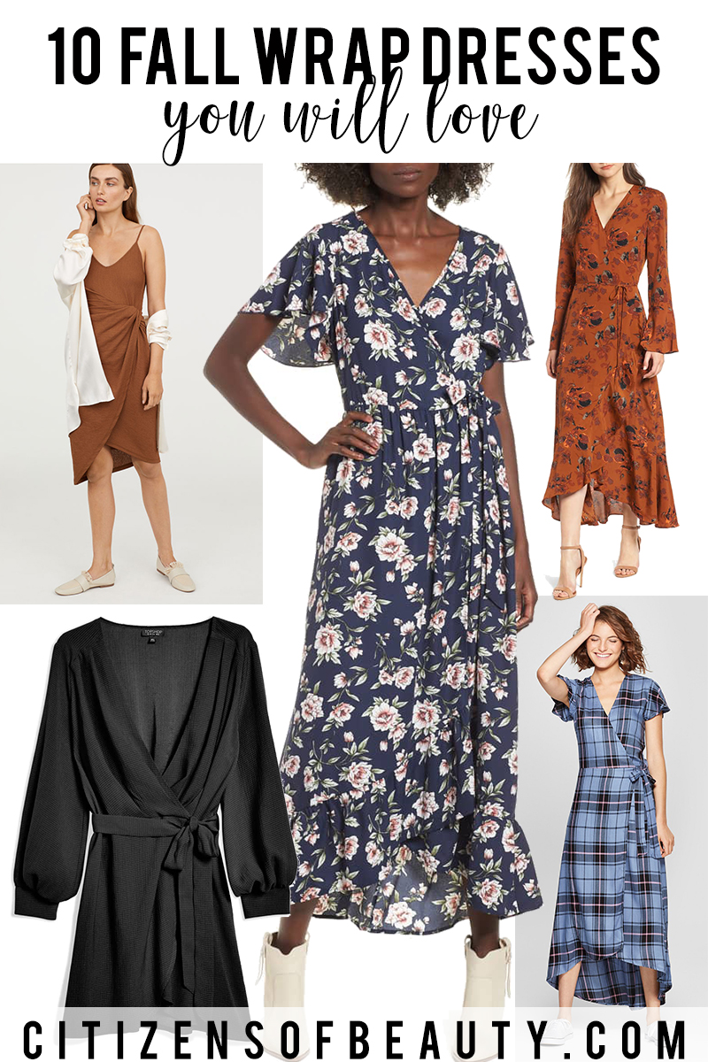 10 fall wrap dresses you will love to wear with Austin, TX style blogger, Kendra Stanton
