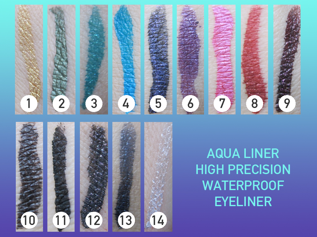 Black Diamond Electric >> Makeup Forever Water Proof Liner: Swatches - Citizens of Beauty