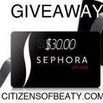 My Dirty 30 International $30.00 Sephora Giveaway!