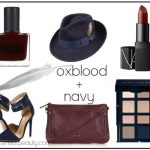 Fall 2013 Beauty + Style Mood Board: Oxblood and Navy