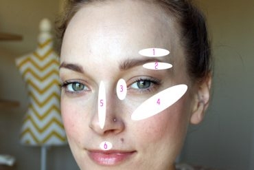 Where to highlight your face.