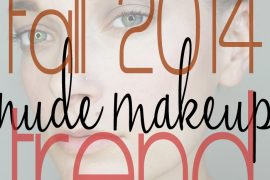 nude makeup for fall 2014