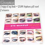 500 Eye Makeup Designs Book Launch Giveaway + Sephora Gift Card!