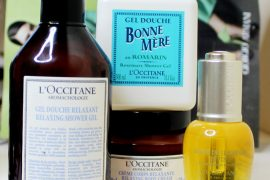 luxury bath and body products from L'Occitane