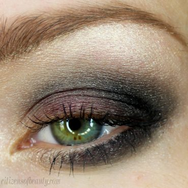 eyeshadow design with purple and black