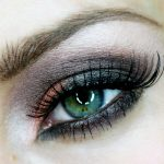 Orange and Black Halloween Eyeshadow Design