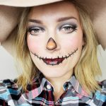 Simple Scarecrow Makeup for Halloween