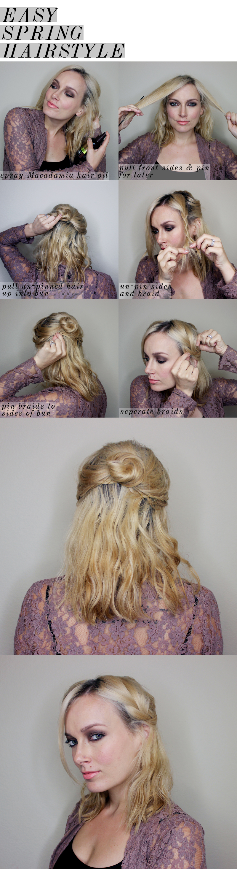 Updo hairstyles for medium length hair tutorials hairstyles easy spring half updo for medium length hair citizens of beauty solutioingenieria Image collections