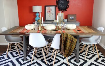 mid century modern tablescape for fall